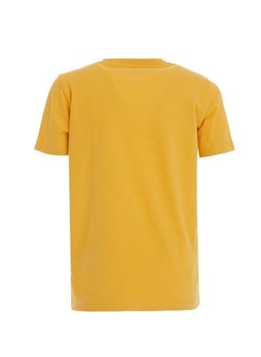 DeFacto Erkek Çocuk Yazı Baskılı Kısa Kol Tişört Sarı